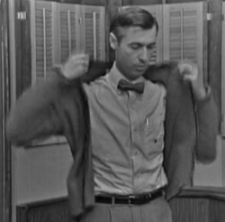 Screen shot from the second episode of Mister Rogers' Neighborhood.